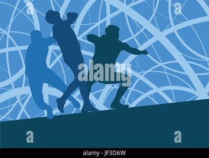 Shot put athlete track and field athletics vector background concept abstract background with man in motion different - Stock Photo