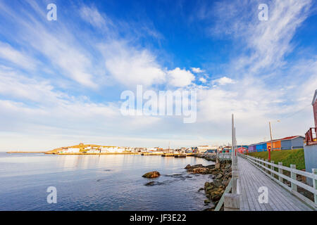 The town of Channel-Port aux Basques in Newfoundland, Canada. - Stock Photo