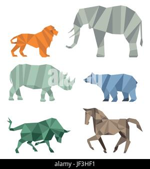 cubist wildlife - Stock Photo