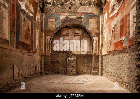 Ercolano unesco world heritage site - Stock Photo