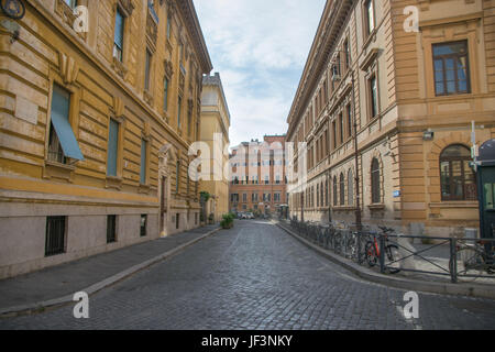 Cozy street in Rome, Italy - Stock Photo