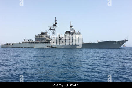 170523-N-RF885-044  GULF OF TADJOURA, Djibouti (May 23, 2017) a SeaArk patrol boat assigned to Coastal Riverine - Stock Photo