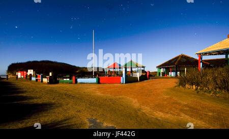 Night shot. Pembrey Country Park. Carmarthenshire. Wales. UK - Stock Photo