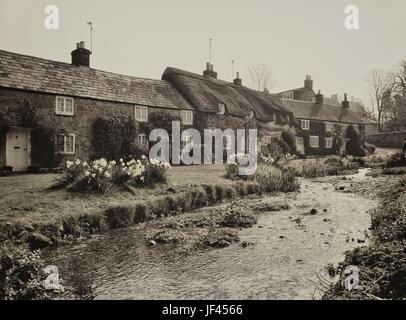Winkle Street, Calbourne, Isle of Wight. - Stock Photo