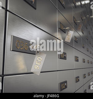 3D rendering safe deposit boxes - Stock Photo