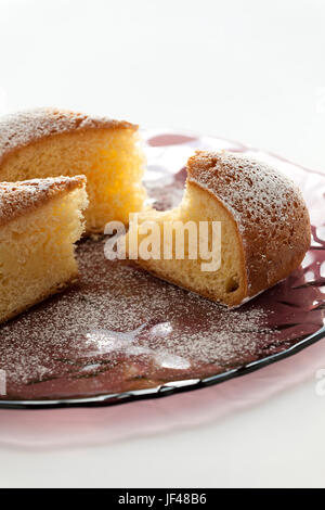 Slices of cake on a plate - Stock Photo