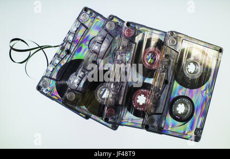 Vintage cassette tapes - Stock Photo