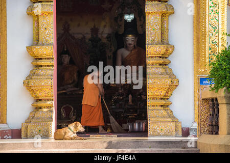 Monk in Chiang Mai - Stock Photo