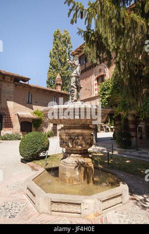 Grazzano Visconti village in Italy. - Stock Photo