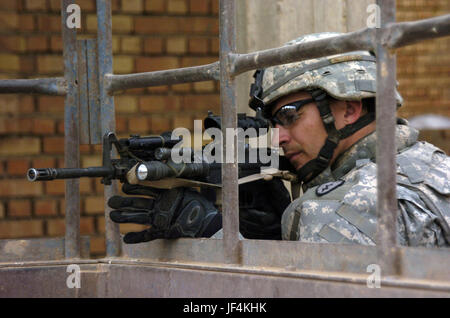 061115-A-2519G-063         U.S. Army Spc. Bruce Blachly of Delta Company, 2nd Battalion, 27th Infantry Regiment - Stock Photo