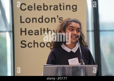 City Hall, London, Uk, 29th June 2017. BBC Children's TV Presenters, Chris Jarvis preforms and question at the Health - Stock Photo