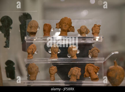 Ancient remains of Carthage civilization in the museum of Carthage, Tunis, Tunisia - Stock Photo