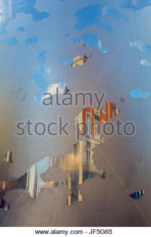 Spire of Dublin, near General Post Office on O'Connell Street - Stock Photo