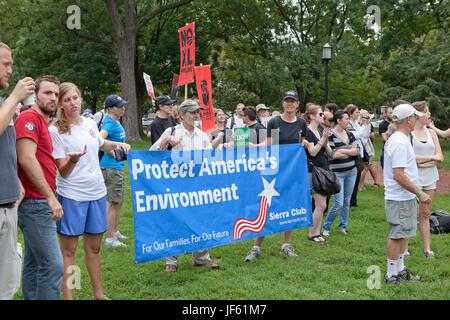 September 03, 2011:  Environmental activists protesting Keystone XL pipeline (tar sands, environmental protest) - Stock Photo