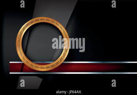ring, circle, metallic, dark, curve, shaddow, shadow, gold, ring, circle, - Stock Photo