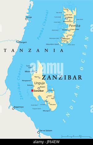 africa, tanzania, zanzibar, map, atlas, map of the world, travel, africa, - Stock Photo