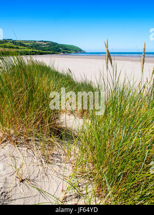 Poppit Sands, a beach near Cardigan in West Wales sits on the Teifi Estuary - Stock Photo