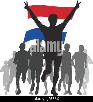 health, sport, sports, flag, netherlands, winner, rivalry, athlete, humans, - Stock Photo