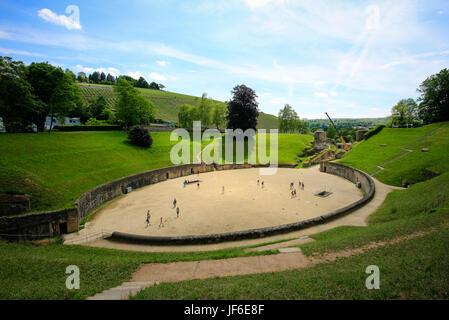 Amphitheatre, Trier, Rhineland-Palatinate, Germany, Europe, Amphitheater, Trier, Rheinland-Pfalz, Deutschland, Europa - Stock Photo