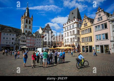 Main Market, Trier, Rhineland-Palatinate, Germany, Europe, Hauptmarkt, Trier, Rheinland-Pfalz, Deutschland, Europa - Stock Photo