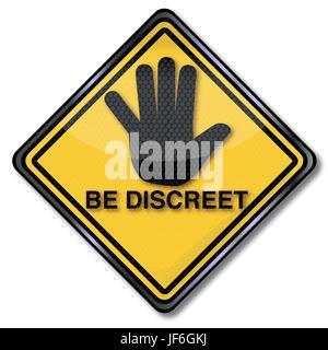 hand, secret, discretion, attentiveness, secretive, discrete, stop, private, - Stock Photo