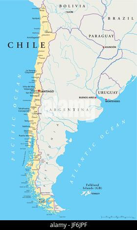 Chile Argentina Paraguay And Uruguay South America RAND - Map of paraguay world