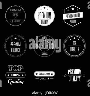 vintage, shopping, retro, label, sign, quality, stamp, pictogram, symbol, - Stock Photo