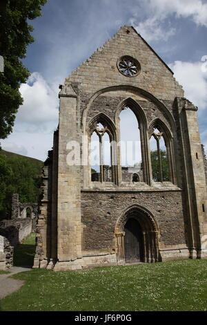Valle Crucis Abbey near Llangollen - Stock Photo