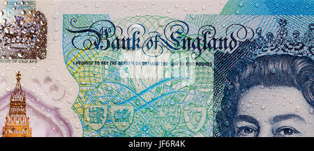 New Polymer Five Pound Note  - 2017 - Stock Photo