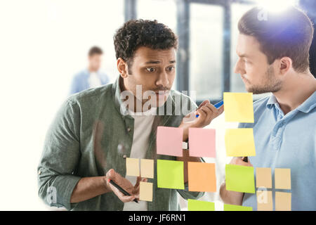 casual businessmen working on new project at modern office, business teamwork Stock Photo