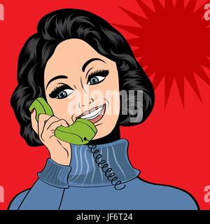woman, telephone, phone, talk, speaking, speaks, spoken, speak, talking, chat, - Stock Photo