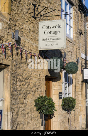 The Cotswold Cottage Bed and Breakfast in Stow - Stock Photo
