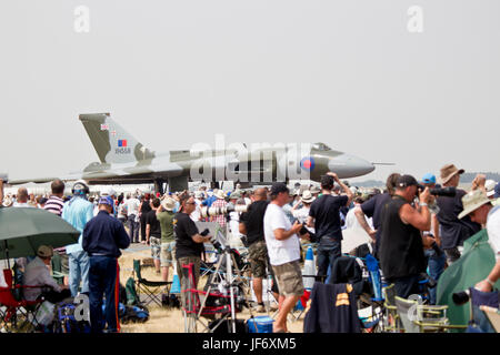 Avro Vulcan XH558 at Royal International Air Tattoo, Fairford RAF,Gloucestershire - Stock Photo