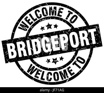 welcome to Bridgeport black stamp - Stock Photo