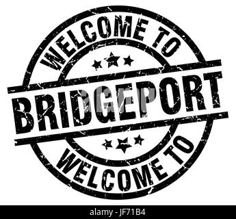 welcome to Bridgeport black stamp - Stock Photo