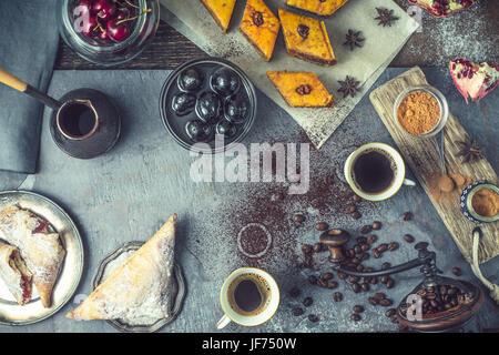 Concept of oriental dessert horizontal - Stock Photo