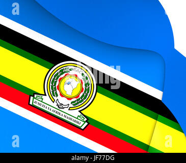 East African Community Flag. - Stock Photo
