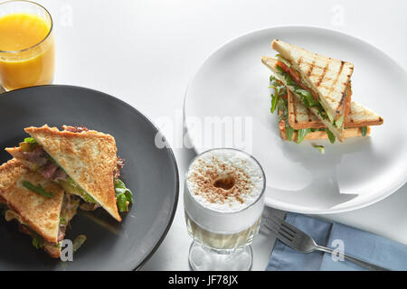 Club sandwiches stock photo royalty free image 82854300 for Club sandwich fillings for high tea