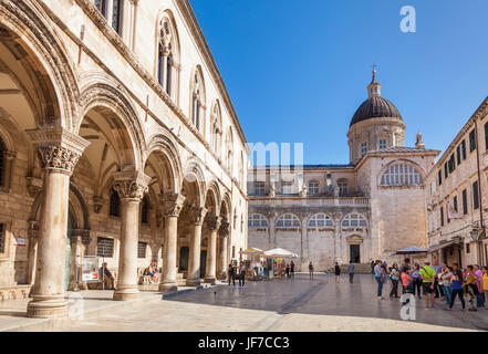Dubrovnik Croatia Dalmatian coast Cathedral treasury Rectors Palace and Cultural History Museum Dubrovnik Old Town - Stock Photo