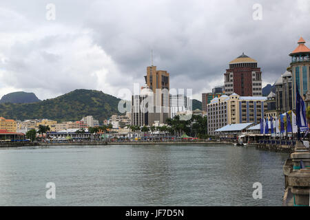 Mauritius, Port Louis, Town view - Stock Photo