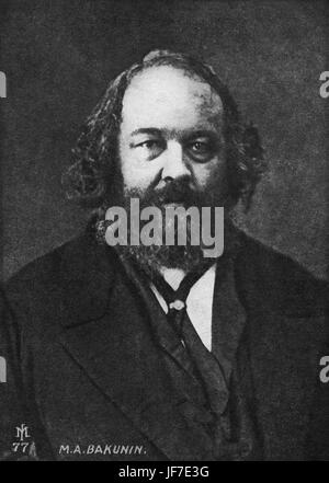 Mikhail Alexandrovich Bakunin, Russian anarchist, led revolution in Dresden in 1848.  Wagner connection. 1814-1876 - Stock Photo