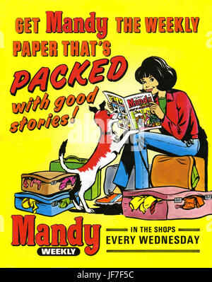 Mandy, teenage girls' magazine - cover. Mandy, picture story ...