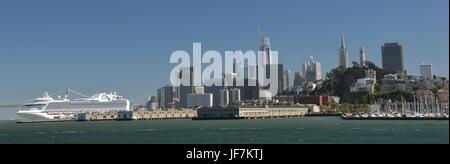 View of San Francisco from Alcatraz Island on May 1, 2017, California USA - Stock Photo