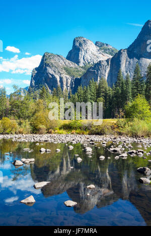 Yosemite National Park, California, the Cathedral Spires mountains - Stock Photo