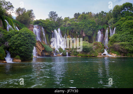 Kravice waterfalls, Bosnia and Herzegovina, Ljubuski - Stock Photo