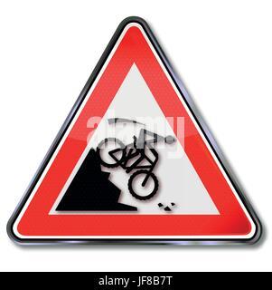 danger, extreme haven, mountainbike, bike, bicycle, cycle, crash, schuss, roll - Stock Photo