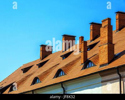 old roof, window - Stock Photo