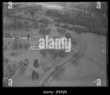 Aerial Photo Map Belmont Park Racetrack Elmont New York