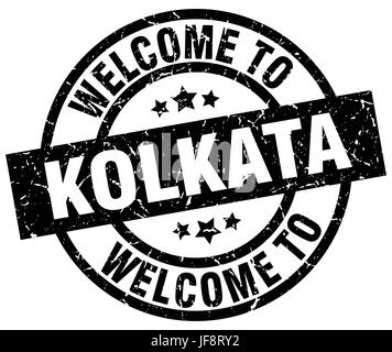 welcome to Kolkata black stamp - Stock Photo