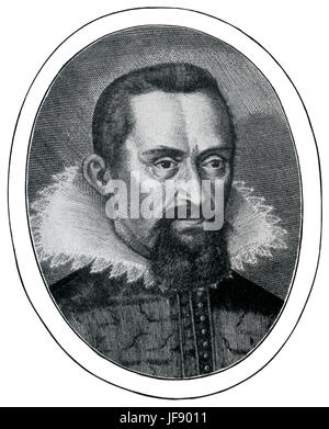 John Kepler / Johannes Kepler.   German mathematician, astronomer, and astrologer.    Best known for his laws of - Stock Photo